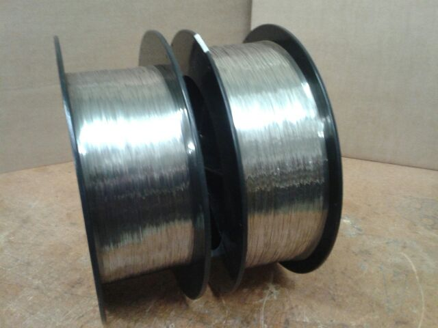 Some of our clean, mirror finish, 304V Stainless Steel medical wire.